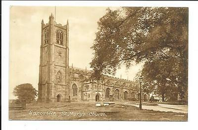 Old postcard, Lancs: 'Lancaster. St. Mary's Church'.