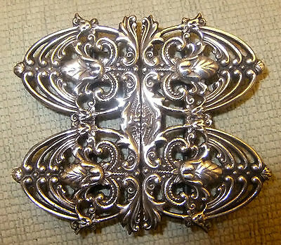 Antique Solid Silver Nursing Buckle