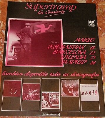 Supertramp Spanish Tour Promo Ad