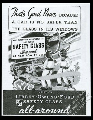 1934 deep-sea diving diver art Libbey Owens Ford safety glass vintage print ad