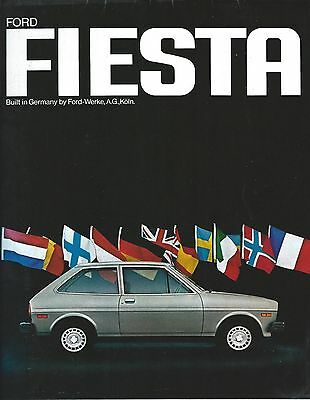Auto Brochure - Ford - Fiesta - c1977 - European Engineering  (A1103)