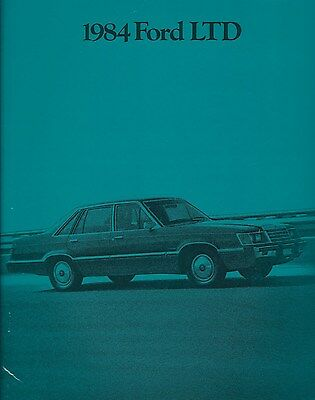 Auto Brochure - Ford - LTD - 1984  (A1104)