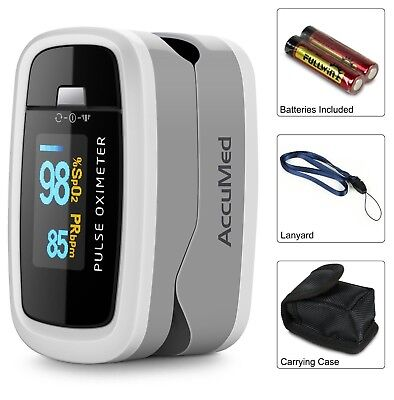 AccuMed CMS50D1 Fingertip Pulse OLED Oximeter Blood Oxygen SpO2 Monitor FDA + CE