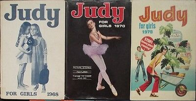 Collection Job Lot - 3 x Judy Annuals 1968, 1970 and 1978