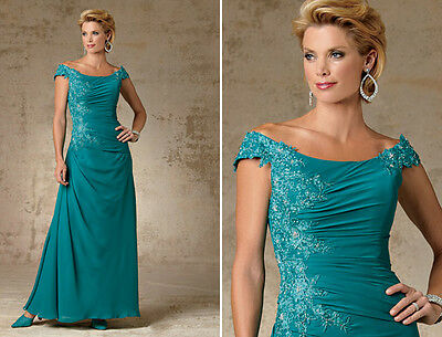 BRAND NEW!  Peacock Colored Mother of the Bride Gown - Size 10