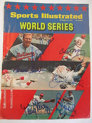 1970 WORLD SERIES signed autographed SPORTS ILLUSTRATED ORIOLES  CINCINNATI REDS
