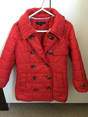 Tommy Hilfiger Girls Red Light Jacket Coat 4 Years VGC