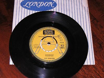 Roy Orbison..goodnight//only With You..rare Uk 1965 London Demo Hlu 9951
