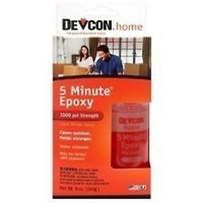 New Devcon 20945 S209 2 Part 2Pk Large 5 Minute Epoxy Glue Waterproof Adhesive