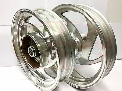 Motorcycle Front Wheel and Rear Wheel PAIR to fit Jinlun Texan 250 JL250-11