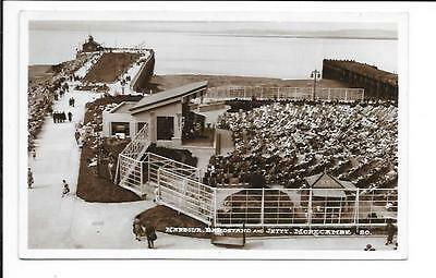 Old postcard, Lancs: 'Harbour, Bandstand and Jetty, Morecambe'. 'Real photo'.