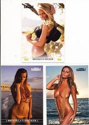 Brooklyn Decker  ~  Sports Illustrated Swimsuit ~  3  Card Lot  ~  Hot !  ~C