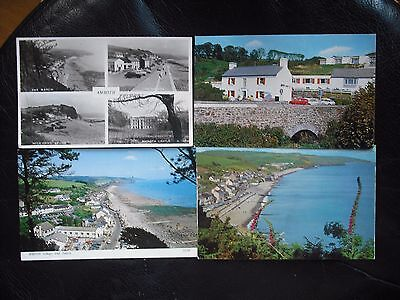 AMROTH. 4. Cards.  THE BEACH , MULTIVIEW ,THE NEW INN AND AMROTH VILLAGE & BEACH