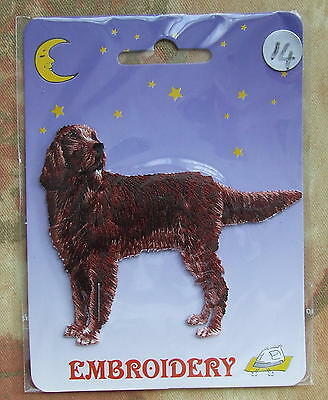 DOG Embroidery Iron On Patch - Red / Irish Setter Dog