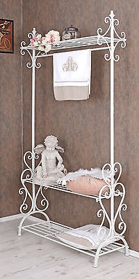Valet Stand White Wardrobe Shabby Chic Corridor Wardrobe Clothes Stand