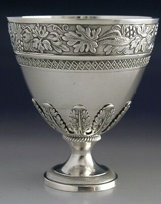 SUPERB HIGH GRADE SOLID SILVER ZARF CUP ANTIQUE c1900 FRENCH