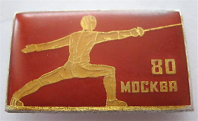 Fencing Pin Moscow 1980 Xxii Olympic Games
