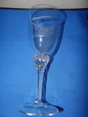 Flights of Fantasy Goodwood Concorde Crystal Wine Glass/Goblet New