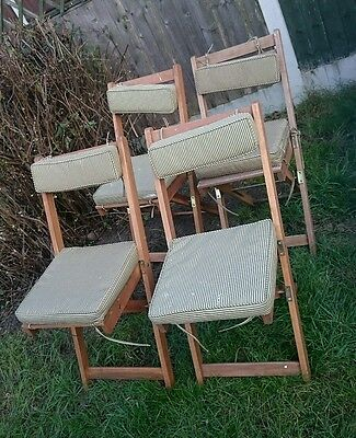 4 x Vintage Garden Wooden Folding Chairs...WE CAN DELIVER