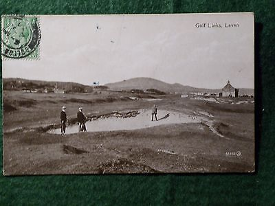 The Golf Links at Leven. Early and Rare Postcard.