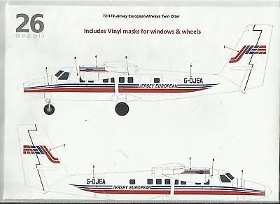 TwoSix Decals 72170 DHC-6 Twin Otter Jersey European Airways decal in 1:72 Scale