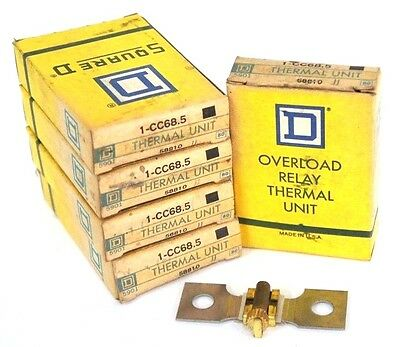 Lot Of 5 Nib Square D Cc68.5 Thermal Units 58810, 1-Cc68.5