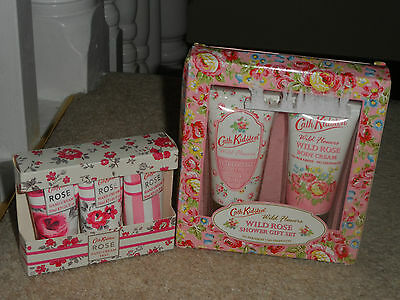 2 x CATH KIDSTON NEW WILD ROSE GIFT SETS IN BOX INC SHOWER, BODY AND HAND CREAMS