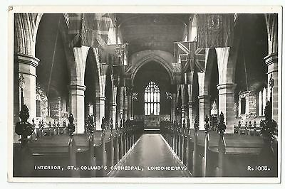 Old Postcard 'Interior St Columb's Cathedral' Londonderry 1960 R/P
