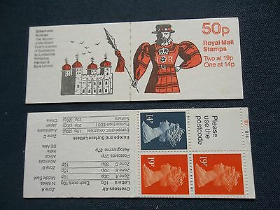 Fb51 Gilbert & Sullivan Yeoman Of The Guard 50P Machin Stamp Booklet Cylinder
