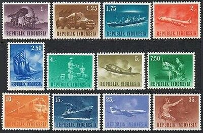 Indonesia 626-637,MNH.Michel 435-438. Transportation 1964.Oxcart,Trailer truck,