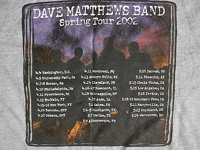 DAVE MATTHEWS BAND - SPRING TOUR 2002 (T-Shirt)