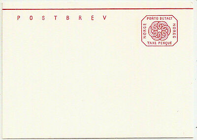 1960s NORWAY POSTAGE PAID POSTAL STATIONERY LETTER CARD MINT UNUSED