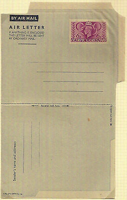 1948 KGVI 6d London Olympic Games Airletter Bright Purple Postal Stationery Mint