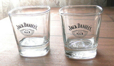 2 Jack Daniel's Old No.7 Brand Spirit Glasses Square Glasses