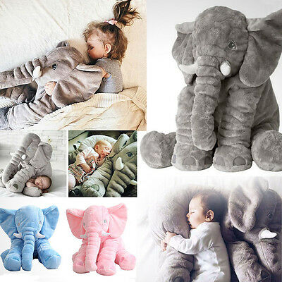 60CM Cute Plush Toy Long Nose Elephant Pillows PP Cotton Stuffed Baby Soft Dolls