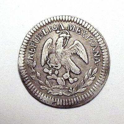 MEXICO - First Republic - Real 1851-OM - Zacatecas - Silver - NO RESERVE