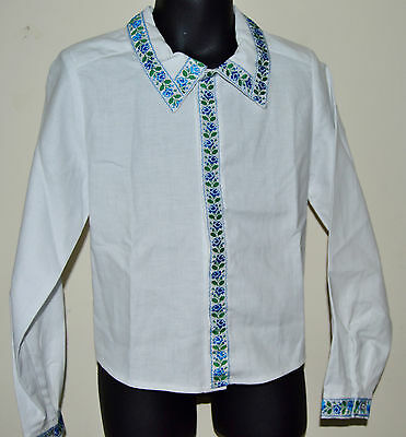 NEW Hand Made Vyshyvanka Traditional White formal Shirt for boy 3-4 years old