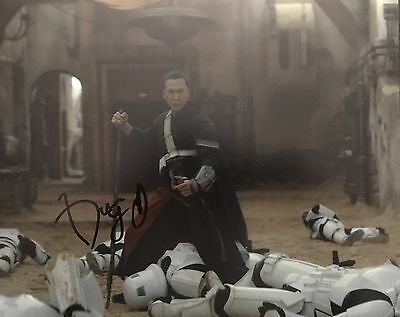 Star Wars Rogue One DONNIE YEN SIGNED 8x10 - PROOF