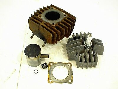 1977 Honda Express Nc50 Top End Assembly Cylinder Piston Rings Head Nc 50 Moped