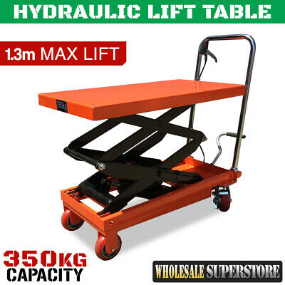 New LIFT TABLE Hydraulic Scissor 'Powerlift' 350kg Capacity 1/2 Price Jack Hoist