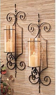 Brand New Home Essentials 64577 Wall Sconce Bristol Set of 2 Gold Gift Box