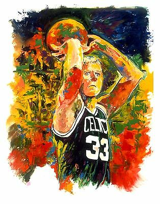 70% Sale Larry Bird 14 X 11 Canvas & 2 Free Prints Signed By Painter, Winford