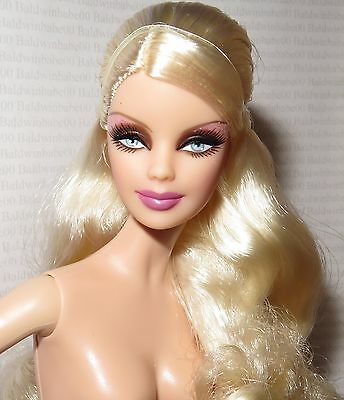 Nude Barbie ~ Blonde Blue Eyes Gothic Mackie Model Muse Holiday Doll For Ooak