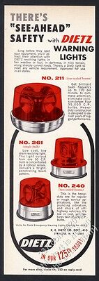 1966 Dietz police car fire engine truck red revolving light 3 models photo ad