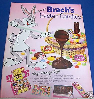 1959 Brach's Easter Candy Ad BUGS BUNNY