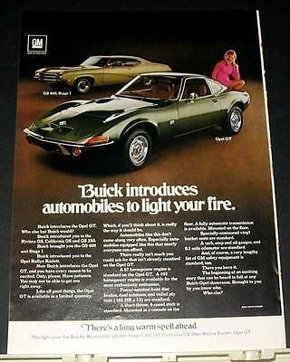 1969 Buick Opel GT intro + GS 400 Stage I Ad