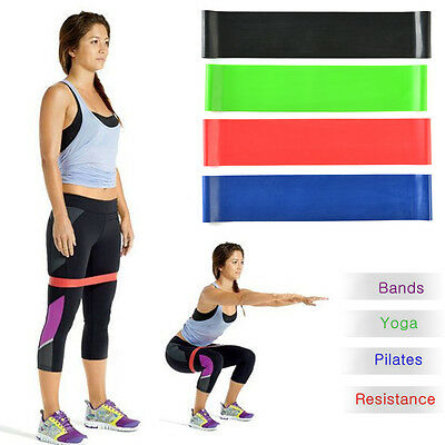 15-40lbs Resistance Workout Exercise Bands Loop Strength Weight Training Latex