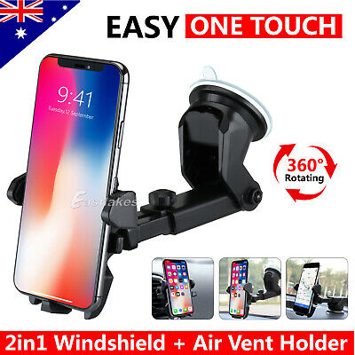 Universal Windshield Mount Car Holder Cradle For iPhone 6S 7 Plus Samsung GPS