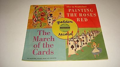 """Vintage Golden Records """"Painting the Roses Red"""" Alice in Wonderland 1950's"""