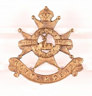 British Army Badge - Sherwood Foresters - brass, nhm